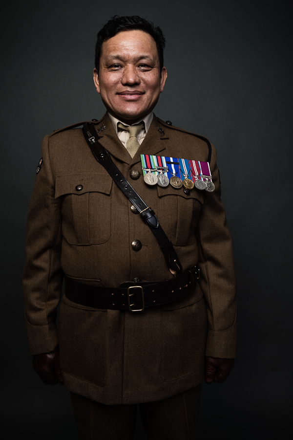 Igor Emmerich, advertising photographer, photographer, portrait photographer, advertising photographer, uk, kent, folkestone, england, portrait, Gurkha, studio, colour, moody