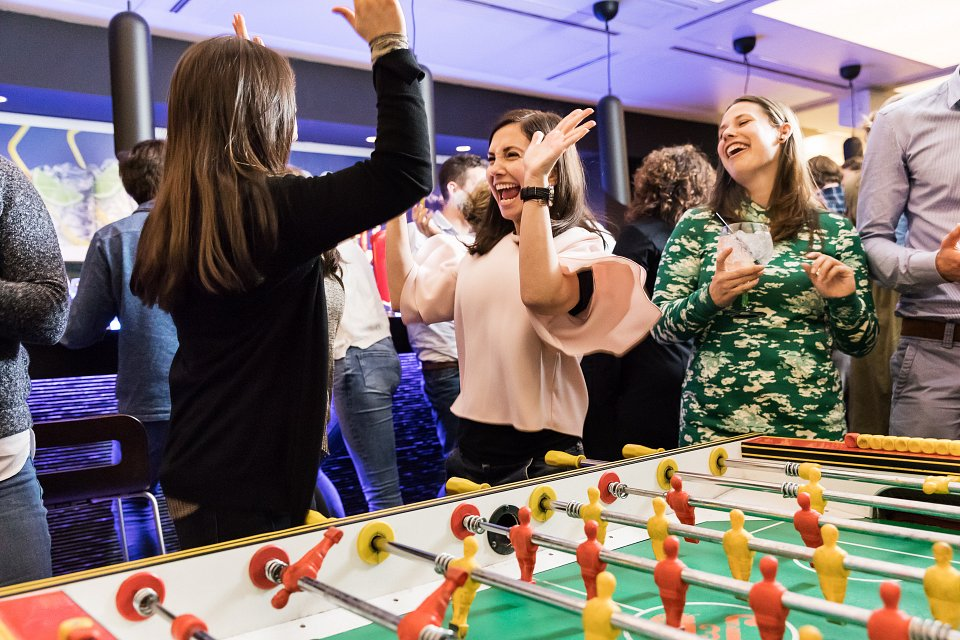 Igor Emmerich, Diageo Europe, office workers enjoying drinks after work, table football