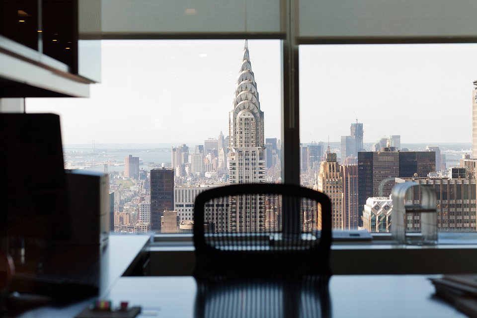 Igor Emmerich, Freshfields, New York. Board room with view of New York City out the window