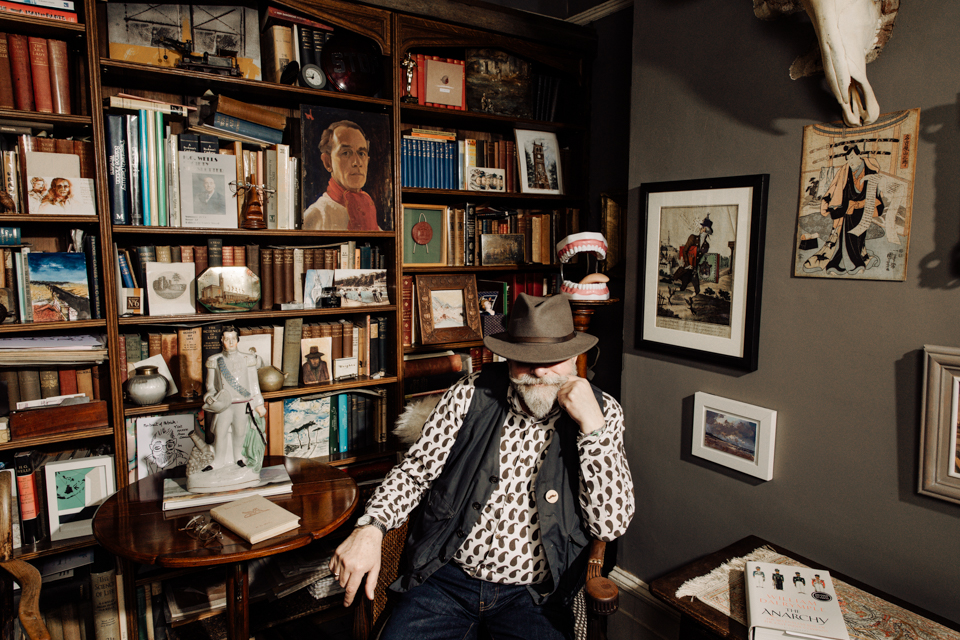 Igor Emmerich, advertising photographer, photographer, portrait photographer, uk, england, man, eccentric, favourite room, collections