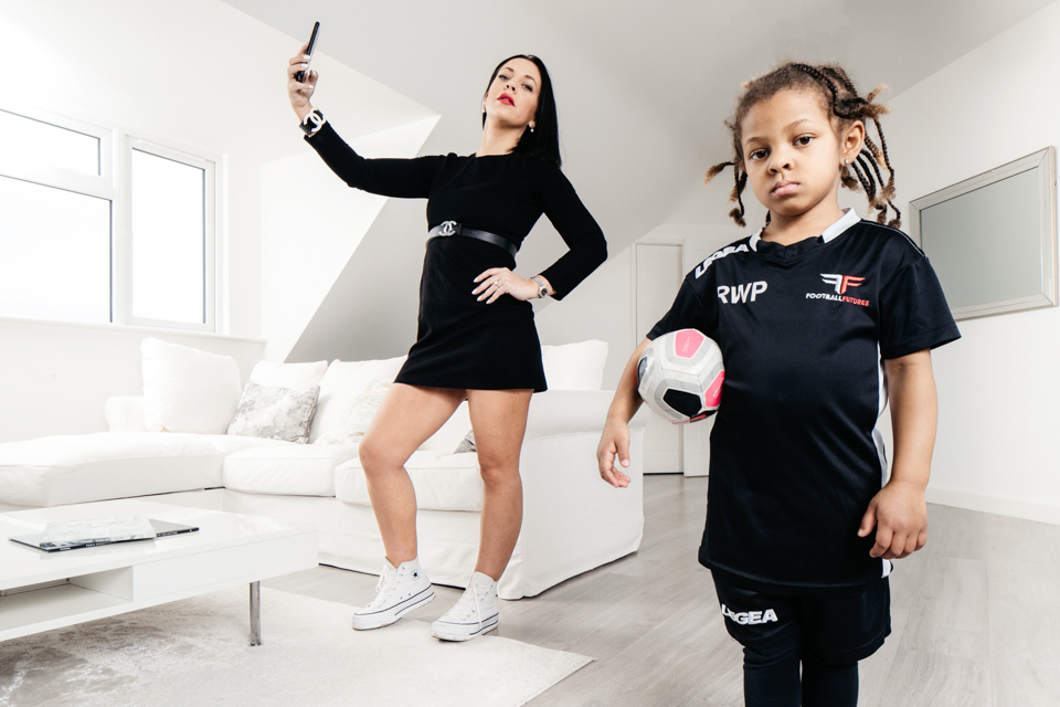 Igor Emmerich, advertising photographer, photographer, portrait photographer, uk, england, home, favourite room, woman, mother, daughter, football, minimalist