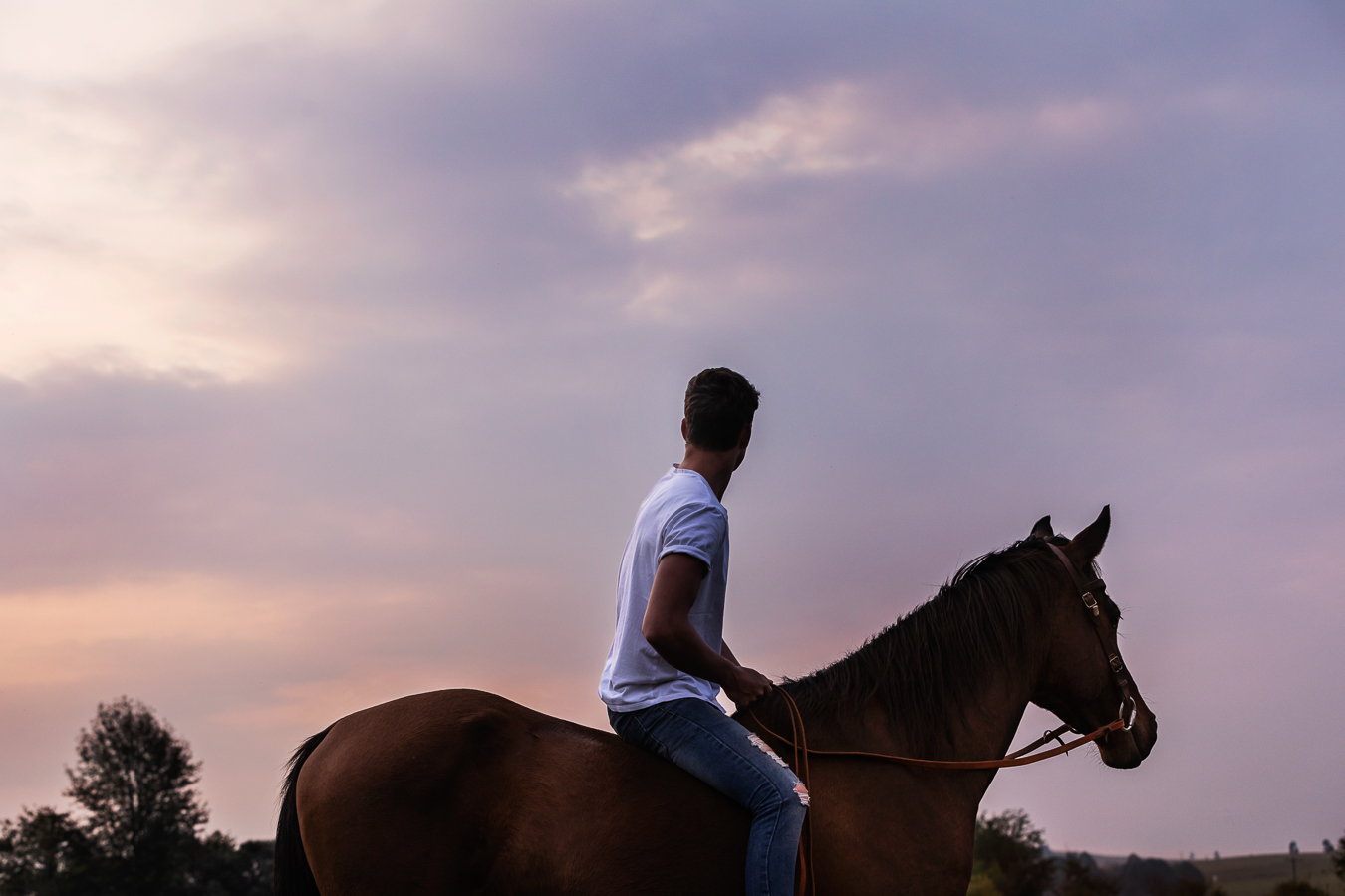 Igor Emmerich, portrait, portrait photographer, lifestyle photographer, horse, horse riding, friends, young, white man, tender, care, South Africa, riding, twilight, sunset