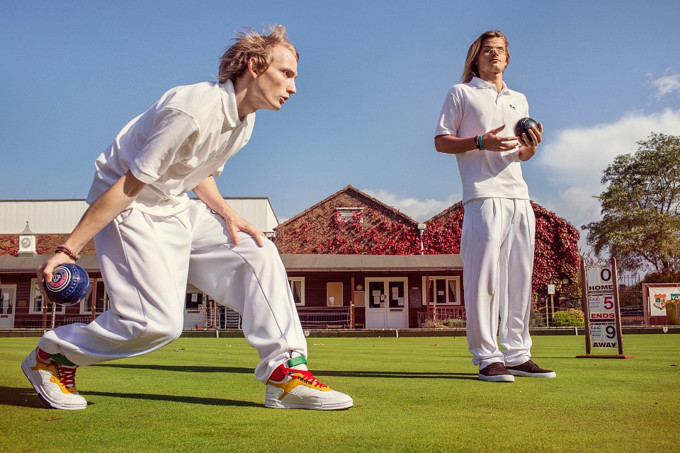 Igor Emmerich, Tangible. Individuality. Teenage boys play bowling on the green